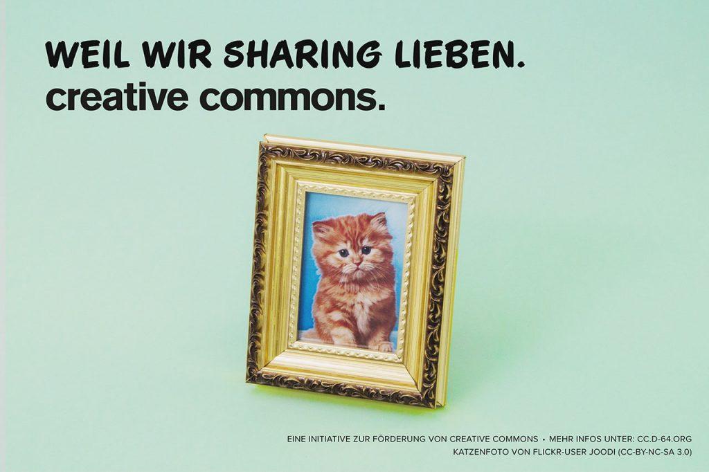 Weil wir Sharing lieben. Creative Commons.